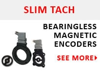 SLIM Tach Hall Effect Magnetic Encoders
