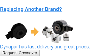 Replacing Another Brand?  Dynapar has fast delivery and great prices. Request Crossover